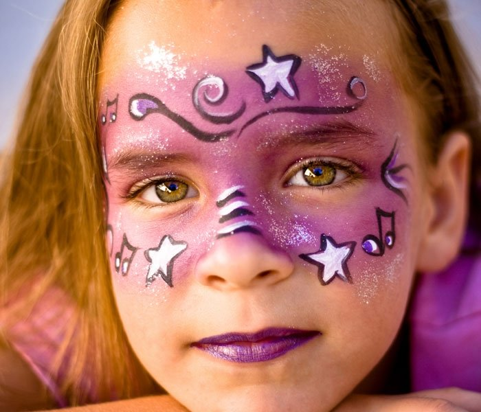 Cute Cat Face Paint For Halloween