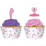 Tutu Much Fun Cupcake Picks mit Hüllen 12 Stk