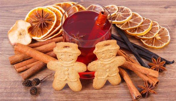 weihnachtsspiele vanillestangen kekse nelken orangen gewurze und getrank