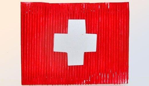 Zum 1 August Eine Fahne Basteln