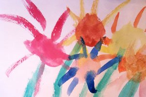 Sommerblumen Malen Ein Bunter Strauss Auf Papier
