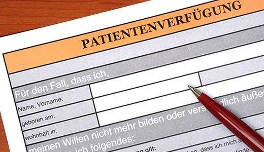 patientenverfügung schweiz
