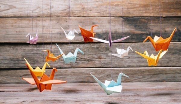 Origami Mobile Basteln Schritt Fur Schritt Erklart