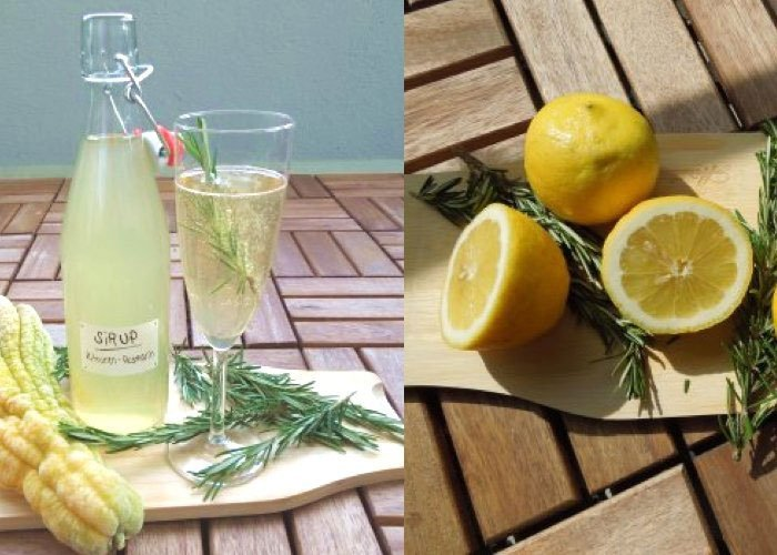 Lemons and rosemary lemonade easy fruit drink recipes