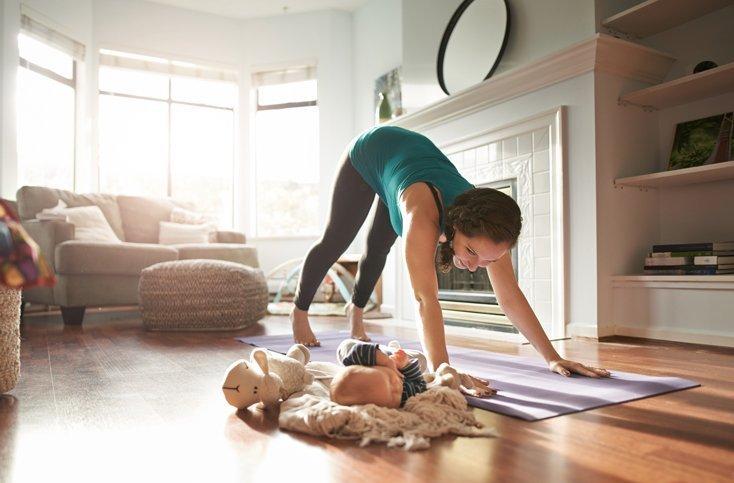 Übungen zum Abnehmen in der Schwangerschaft geben