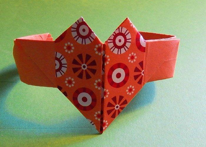 ringe selber machen mit origami herz. Black Bedroom Furniture Sets. Home Design Ideas