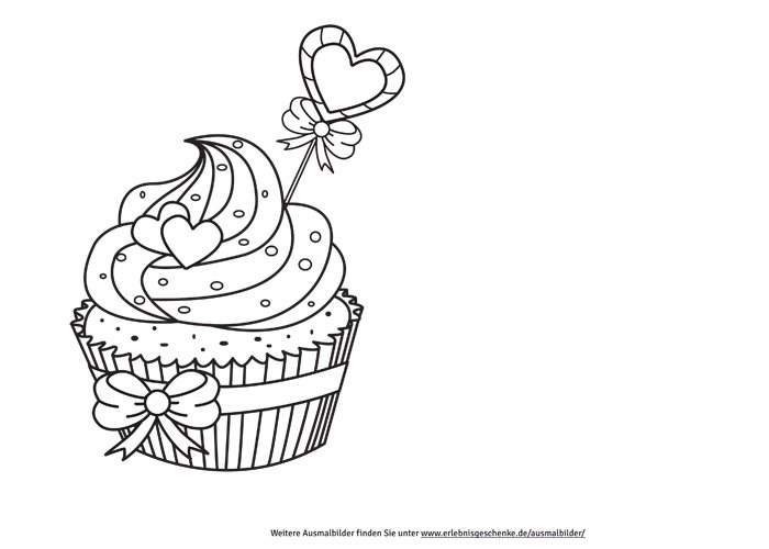bild 2 ausmalbilder cupcake. Black Bedroom Furniture Sets. Home Design Ideas