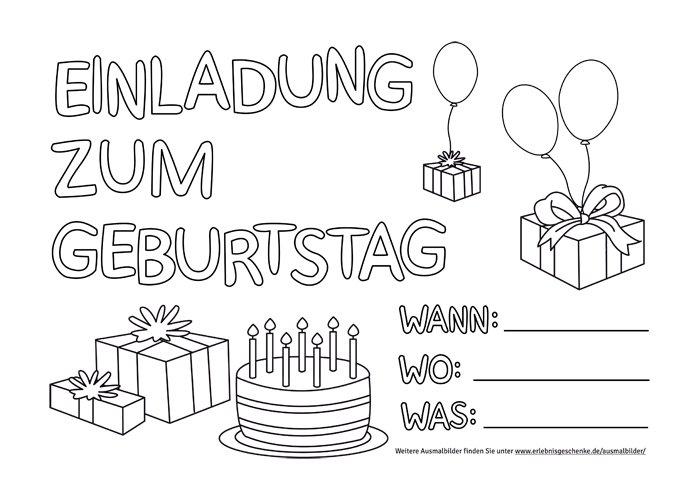Bild 10 Ausmalbilder Geburtstagseinladung
