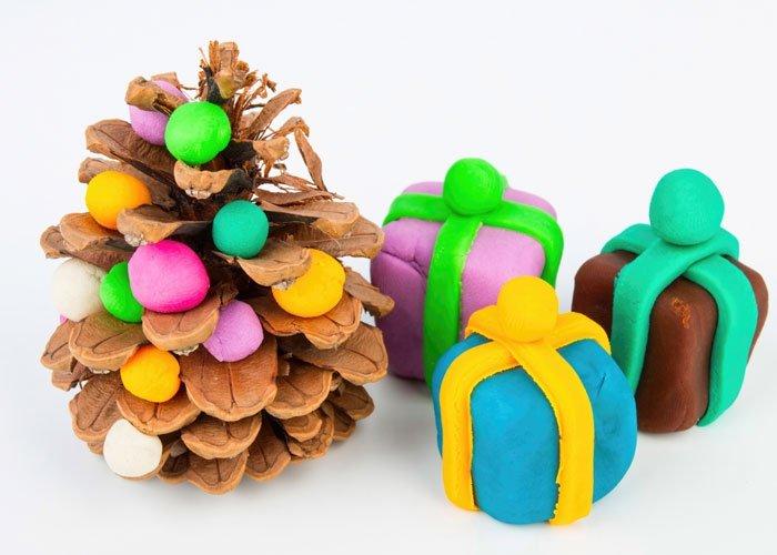 Weihnachtsdeko aus der natur mit kindern basteln - Weihnachtsdeko basteln mit kindern ...
