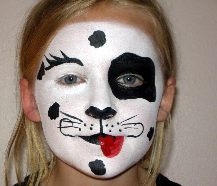 bild 2 kinderschminken vorlage hund dalmatiner. Black Bedroom Furniture Sets. Home Design Ideas