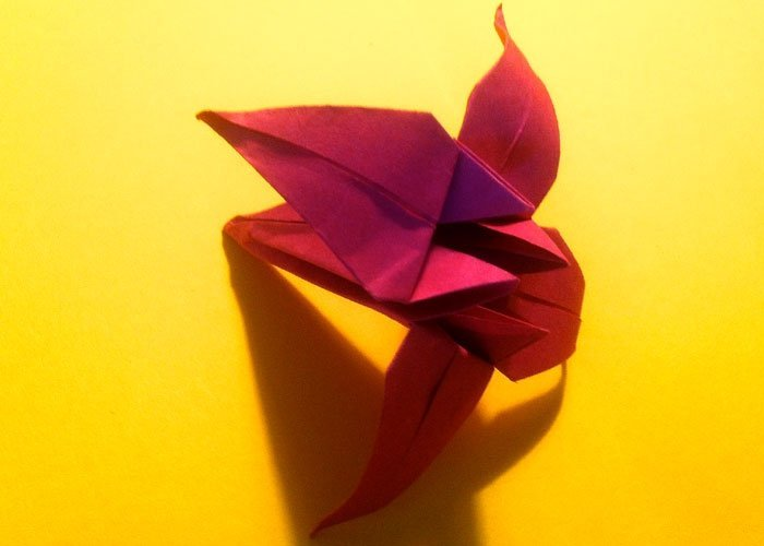 origami blume bild f r bild anleitung zum basteln. Black Bedroom Furniture Sets. Home Design Ideas