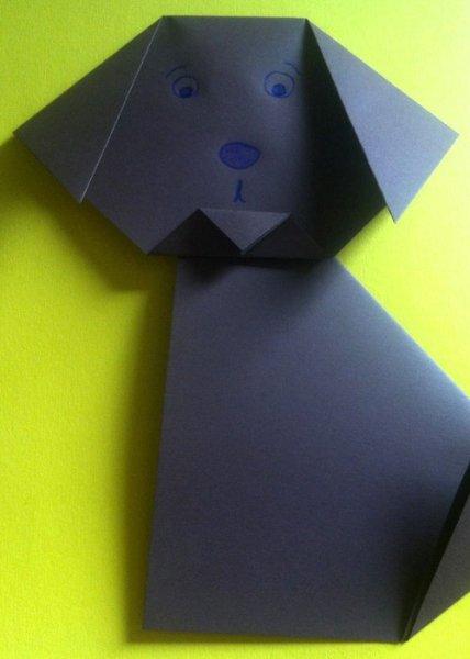Origami Falten Einfache Origami Anleitung Für Einen Hund