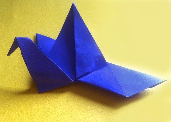 Kranich Falten Origami Anleitung Für Kinder
