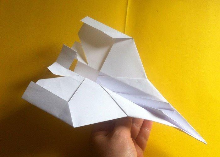 Flugzeug Falten Papierfiieger Basteln