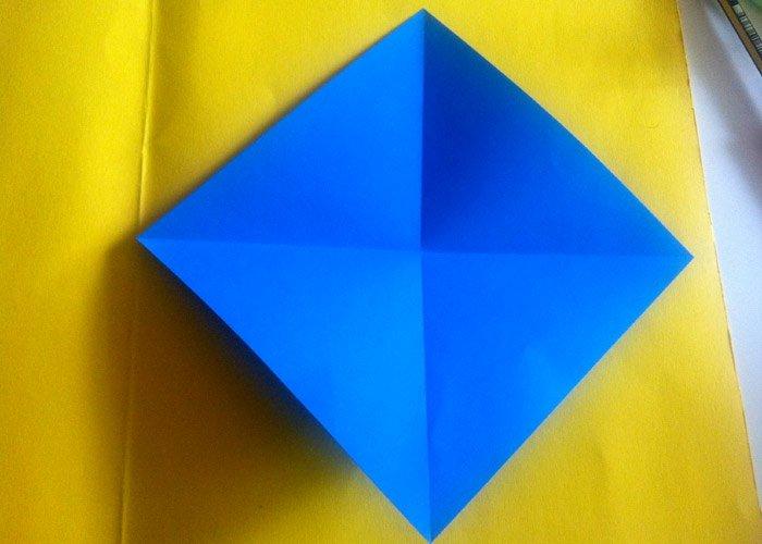 origami hase grundform f r das hasenohr. Black Bedroom Furniture Sets. Home Design Ideas