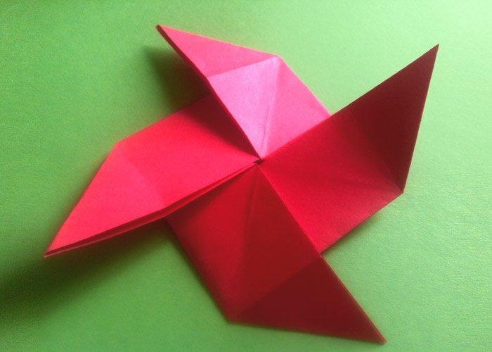 Briefe Schön Falten : Origami windrad aus der multi grundform das falten