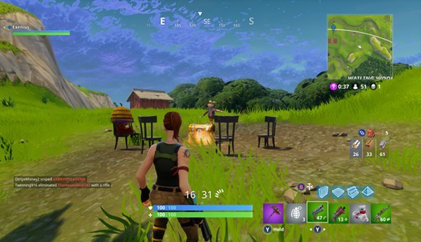 Das Computerspiel Fortnite: Battle Royale.
